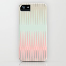 Blush Blue Weave triangles Ombre iPhone Case