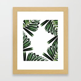 Palm Leaf Watercolor Pattern #society6 #decor #buyart Framed Art Print