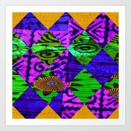 Mardi Gras African Print Art Print