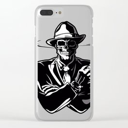 gangster skull. Clear iPhone Case