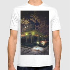 Night fill White MEDIUM Mens Fitted Tee
