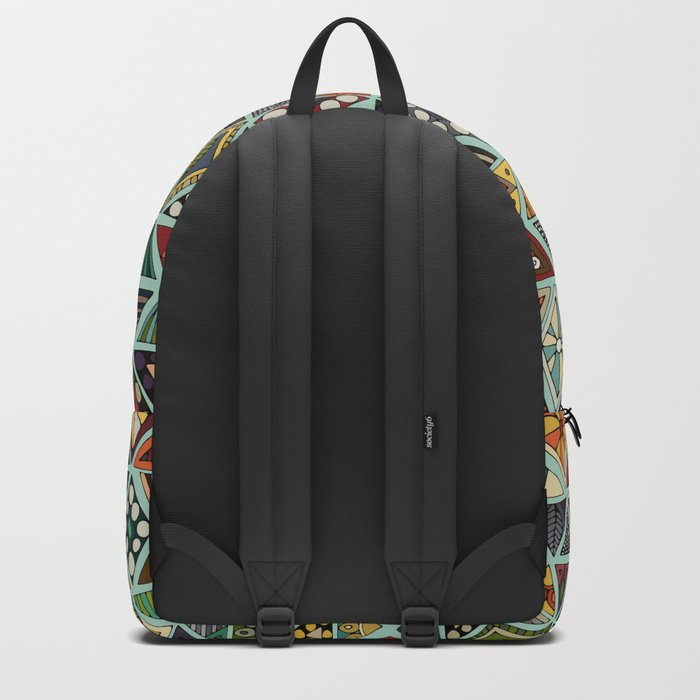sun bear geo mint Backpack