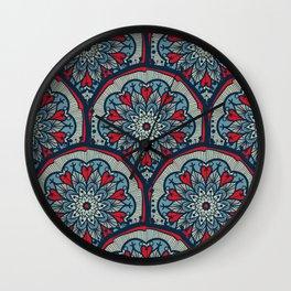 Mandala Seamless Pattern Wall Clock
