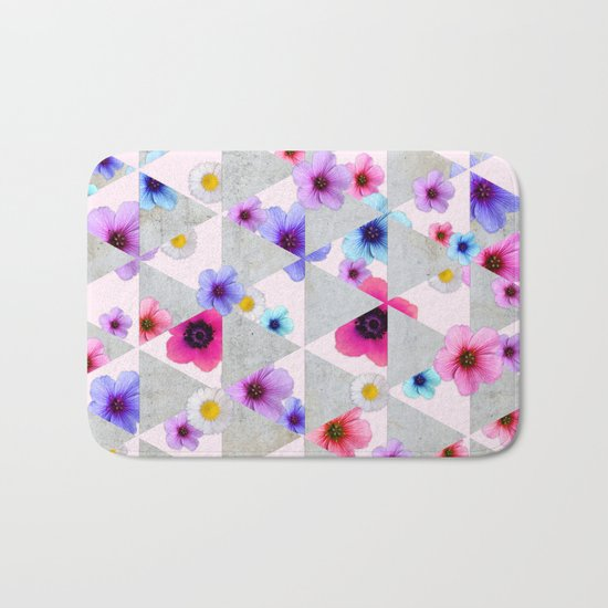 Playing with Flowers Bath Mat