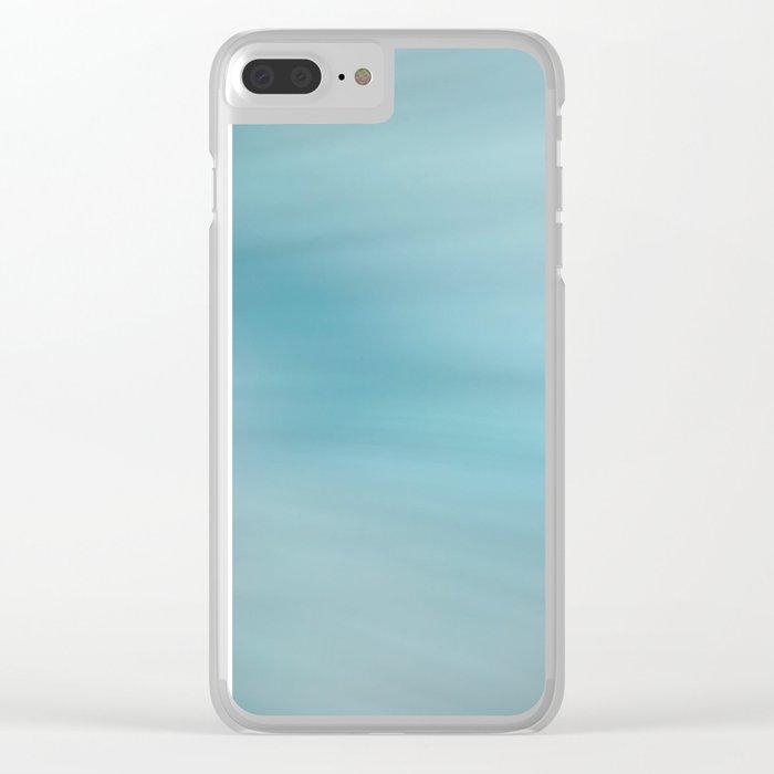 Blue Burst Clear iPhone Case
