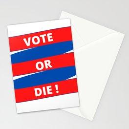 Vote or Die Stationery Cards
