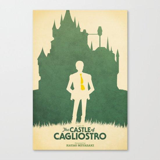 Lupin III: The Castle of Cagliostro Retro Movie Poster Canvas Print