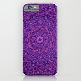 Purple Fuzzy Mandala iPhone Case