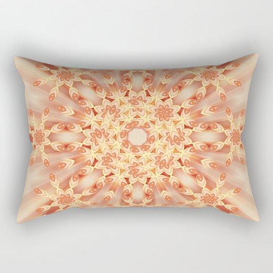 Mandala radial in orange  Rectangular Pillow