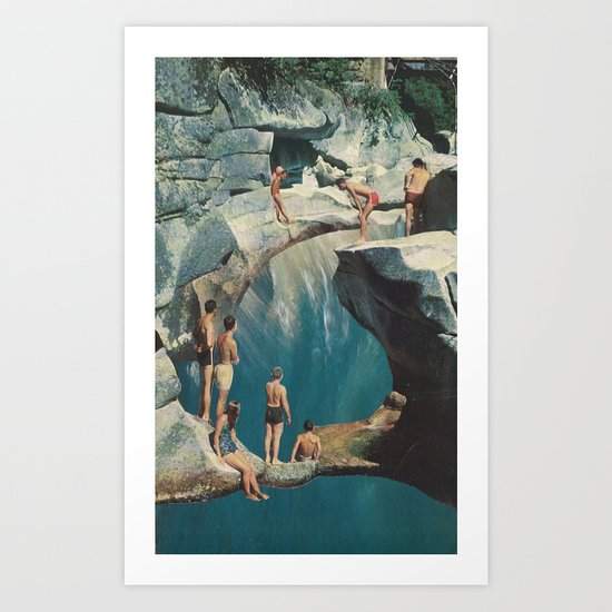 standing at the sea (with david delruelle) Art Print