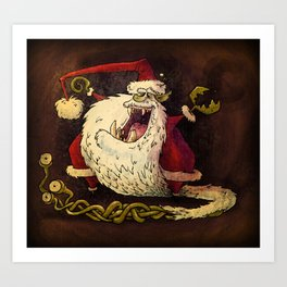 Santa Claws! Art Print