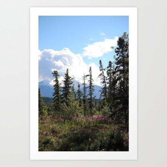For Spacious Skies :: Purple Mountains Majesty Art Print
