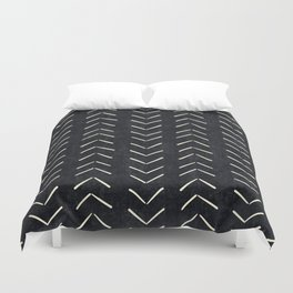 Mudcloth Big Arrows in Black and White Duvet Cover