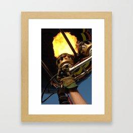 Balloon Burner Framed Art Print