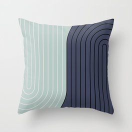 Two Tone Line Curvature XXII  Throw Pillow