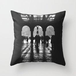 """Contrast"" | Bethesda Terrace, Central Park NYC Throw Pillow"