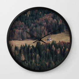 House in forest Wall Clock