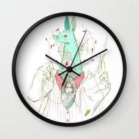 verse Wall Clocks featuring A Case of Verse, Reverse by Celina de Guzman