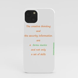 Forma mentis iPhone Case