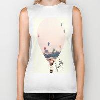 balloons Biker Tanks featuring Balloons  by Bê Machado