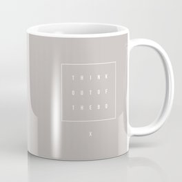 Out of the box - Typographic Coffee Mug