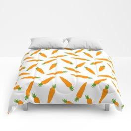 CARROT CARROTS VEGGIE FOOD PATTERN Comforters
