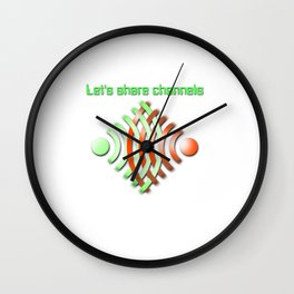 Share Channels Wall Clock