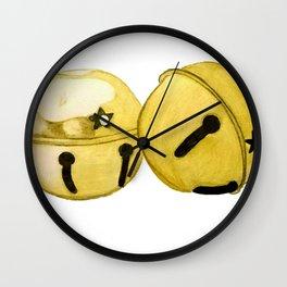 Gold Jingle bells Wall Clock
