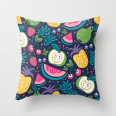 Hello Fruity Throw Pillow