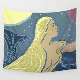 Mermaid / Venus Wall Tapestry