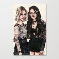 sarah paulson Canvas Prints featuring Sarah x Lana by vooce & kat