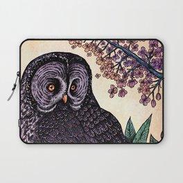 Great Grey Owl At Sunset Laptop Sleeve