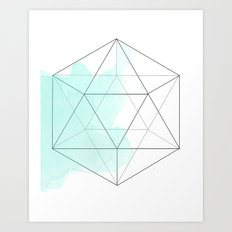 Platonic Water Art Print