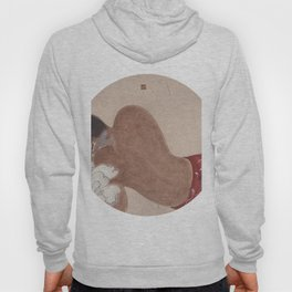man and flower chinese painting Hoody