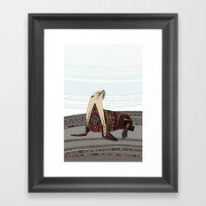 sea lion mono Framed Art Print
