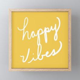 Happy Vibes Yellow Framed Mini Art Print