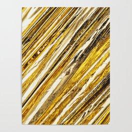 Shimmering Gold Foil Poster