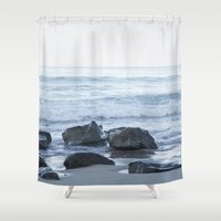 rocky Shower Curtains featuring Rocky Beach by Pure Nature Photos