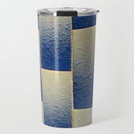 White to Blue Travel Mug