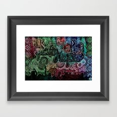All of the Glowing Lights Framed Art Print