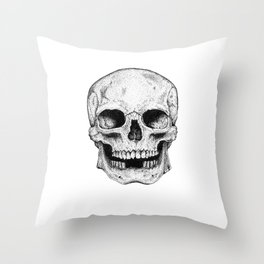 Traditional Anatomical Skull Design Throw Pillow