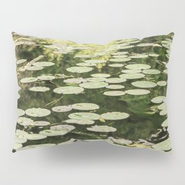 Lilies Green Camouflage Pillow Sham