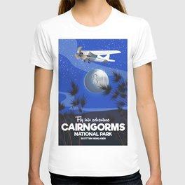Cairngorms National park travel poster T-shirt