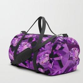 GALAXY OF PURPLE AMETHYST FACETED JEWEL GEMS BIRTHSTONE Duffle Bag