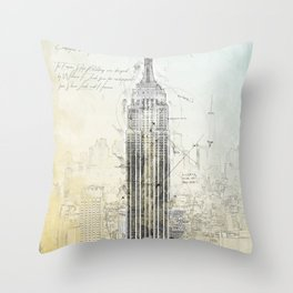 Empire State Building, New York USA Throw Pillow