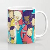 ale giorgini Mugs featuring Star Trek by Ale Giorgini