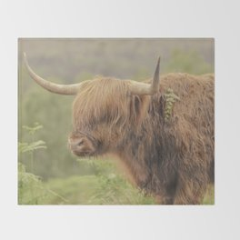 'Hamish' The Highland Cow Throw Blanket
