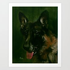 SHEPHERD in SHADOW Art Print