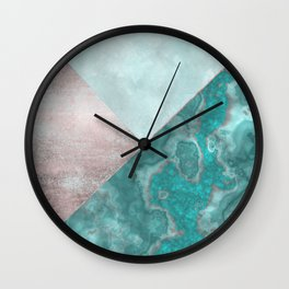 Gemstone And Geode Triangles Wall Clock