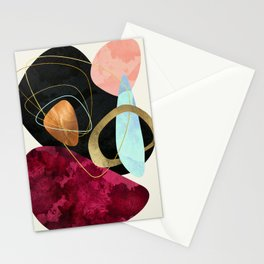 Abstract Pebbles II Stationery Cards